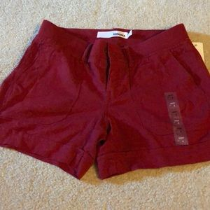 NWT red linen shorts